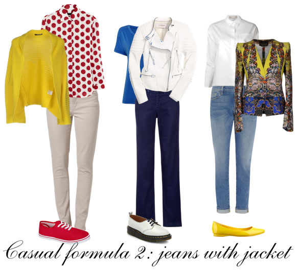 Casual outfit formula 2: jeans with with jacket | 40plusstyle.com