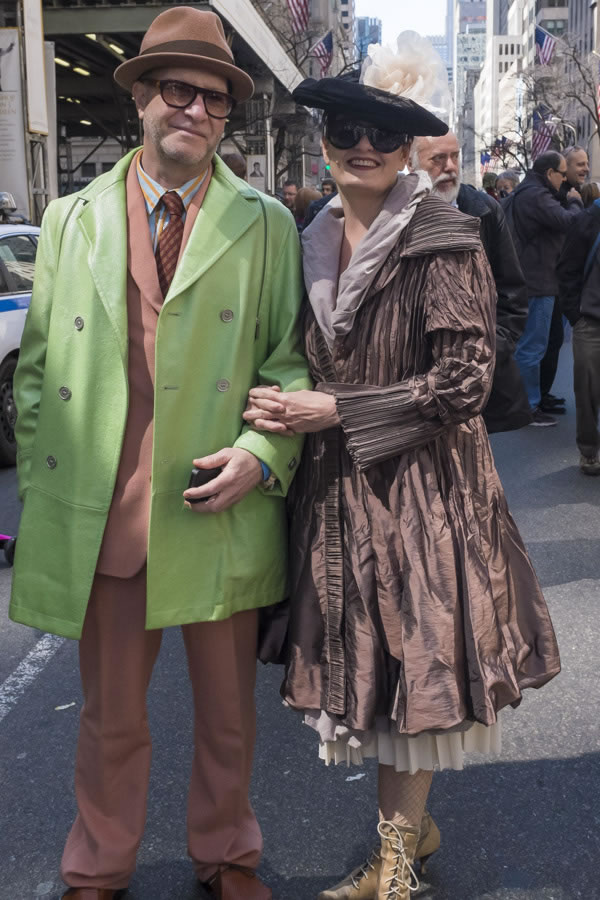 Couple dressed up for the Easter Parade | 40plusstyle.com