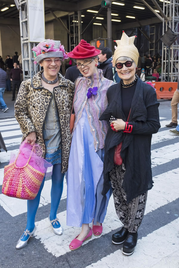 The Idiosyncratic Fashionistas during New York's Easter Parade 2014   40plusstyle.com