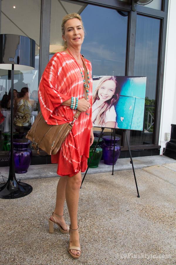 Batik short red dress from White Ginger