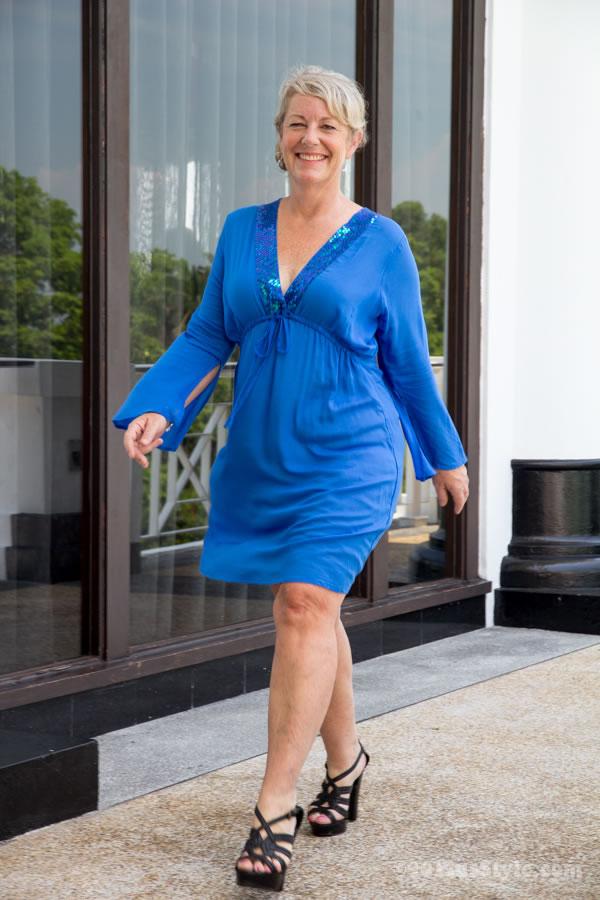 Short blue tunic / dress