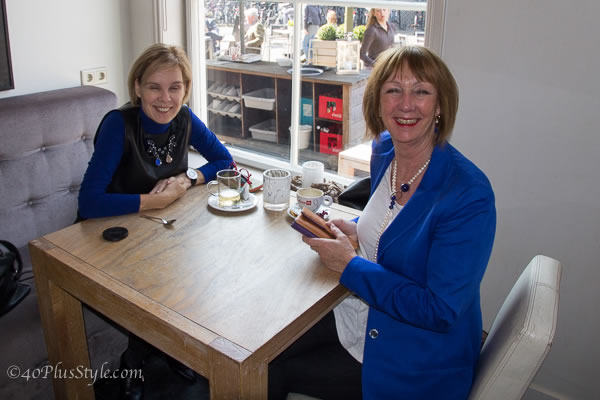 having tea in Haarlem | 40plusstyle.com