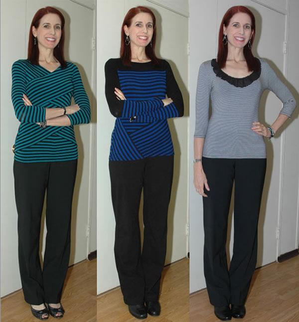 Debbie wearing stripes | 40plusstyle.com