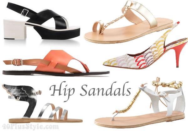 The best hip summer sandals for spring / summer 2014   40plusstyle.com