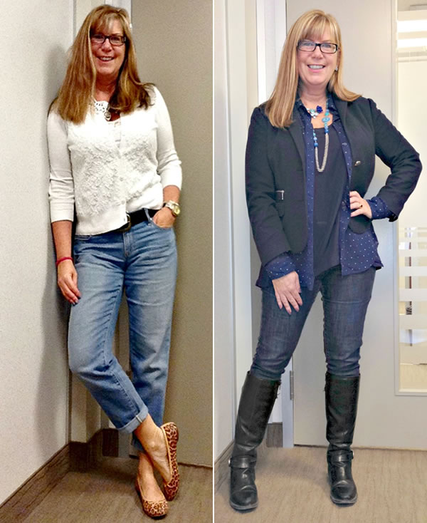 44e8d4da709f0 ... jeans with a jacket and cardigan | 40plusstyle.com