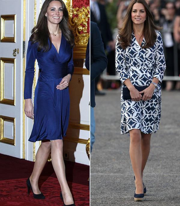 katherine duchess of cambridge wearing a wrap dress   40plusstyle.com