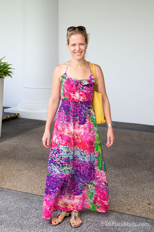colorful summer maxi dress   40plusstyle.com