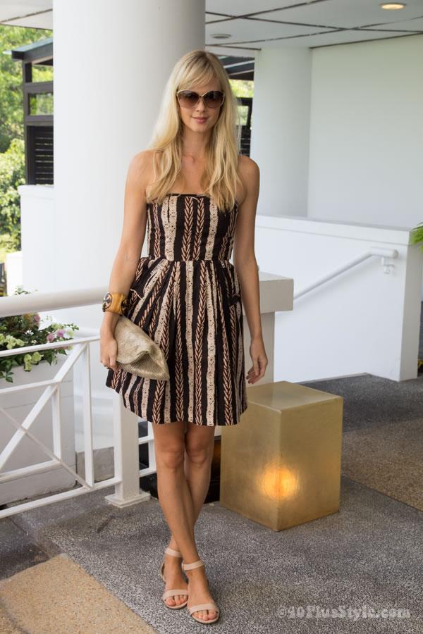 short striped summer dress | 40plusstyle.com