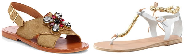 The best hip sandals this season - sandals with emelishments   40plusstyle.com