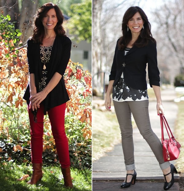 Chic up your jeans with a jacket or cardigan! | 40plusstyle.com