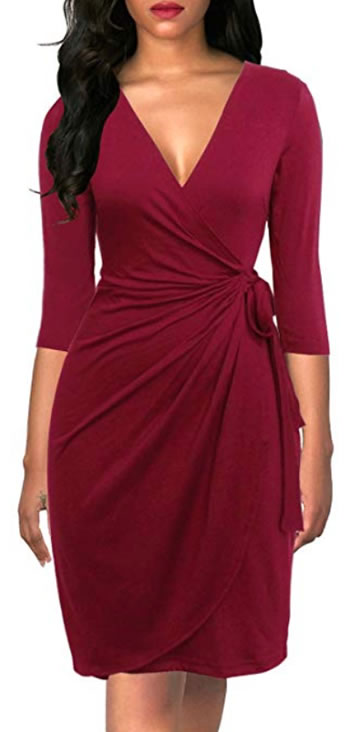 Body hugging wrap dress | 40plusstyle.com