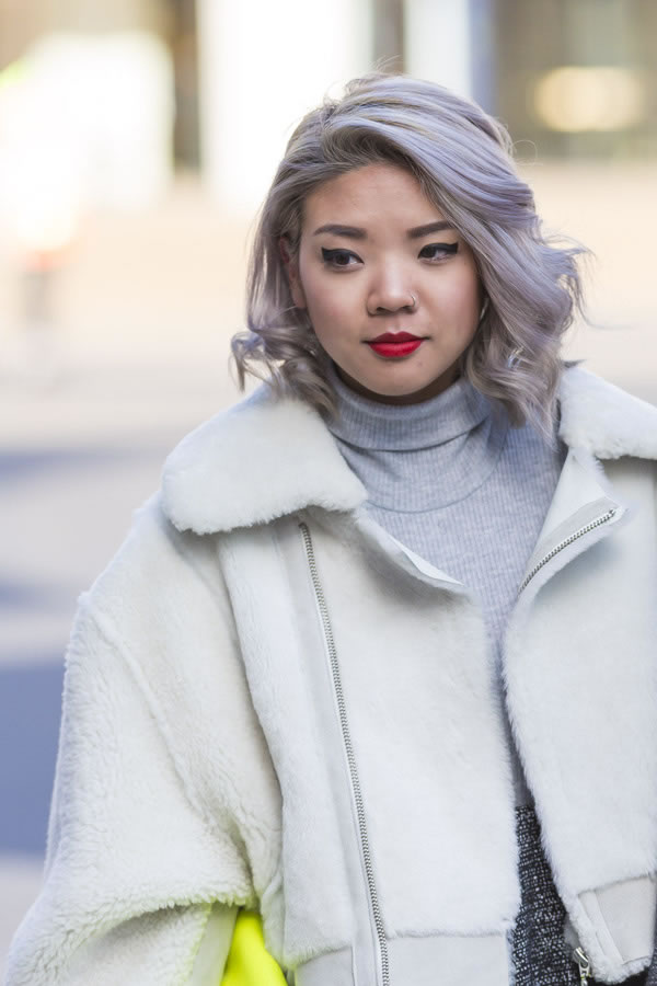 funky gray hairstyle | 40plusstyle.com