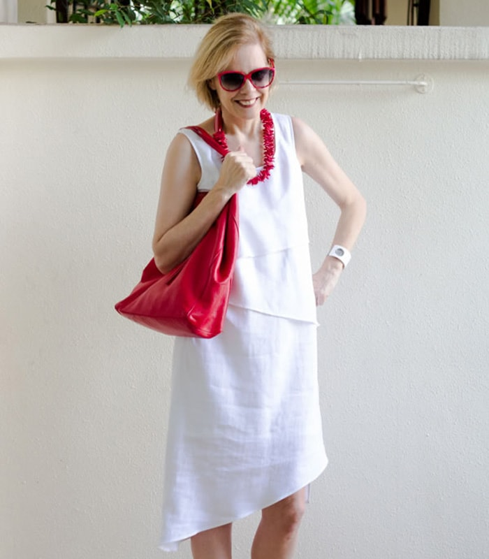 Discovering a new brand and the perfect asymmetrical white summer dress