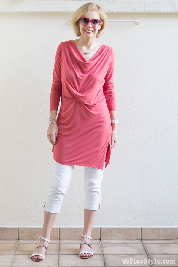Stella Carakasi asymmetrical tunic | 40plusstyle.com