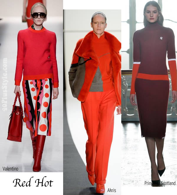 2014 fall fashion trends - Red hot   40plusstyle.com