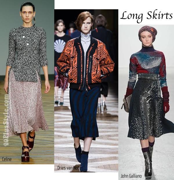 2014's best winter trends - Long skirt   40plusstyle.com