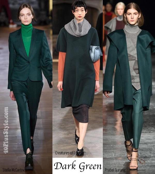 winter 2014 trends report - Dark green   40plusstyle.com