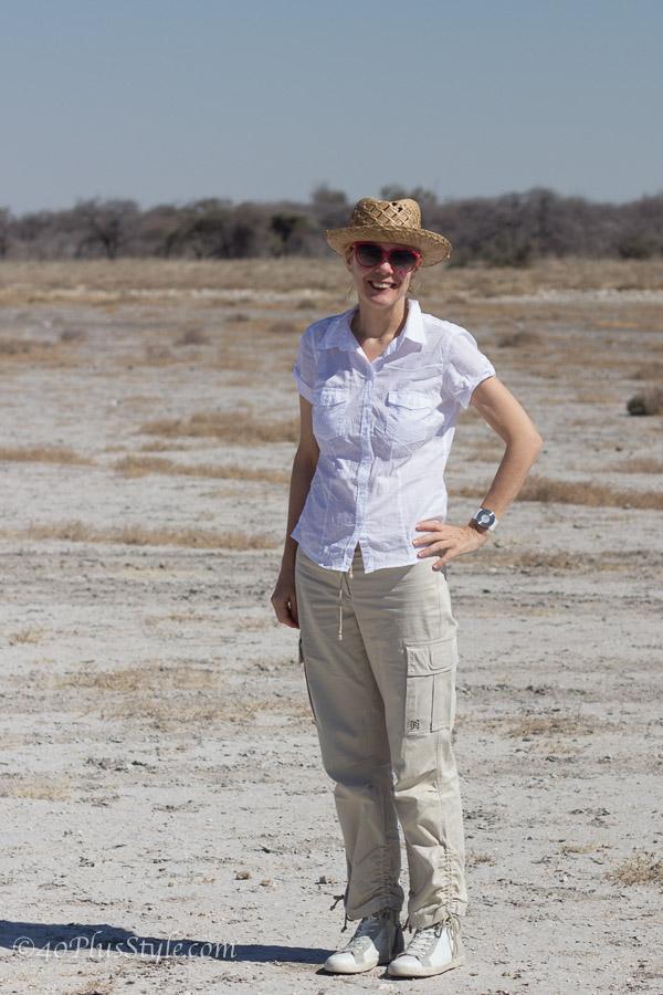 What I wore in Etosha Park, Namibia, Africa | 40plusstyle.com