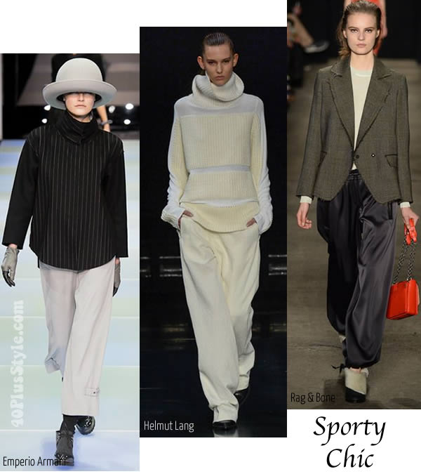 Fall Winter 2014 trends report - Sport chic   40plusstyle.com