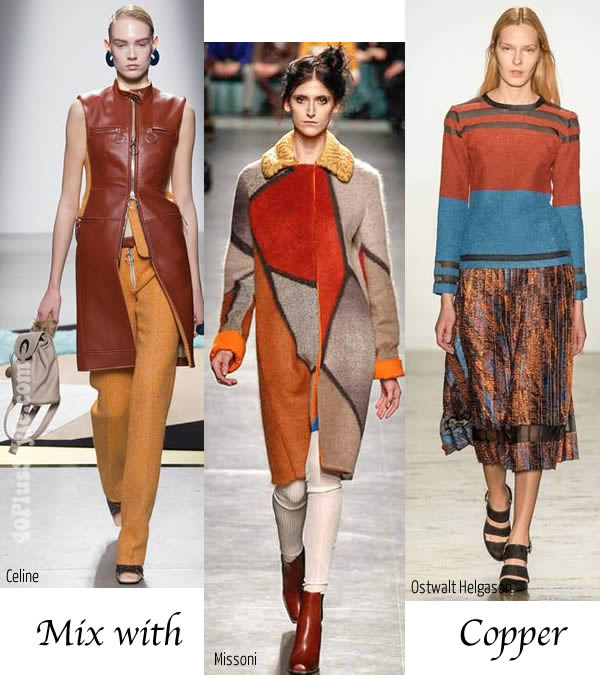 best fall / winter trends for women over 40 - Mix with copper   40plusstyle.com