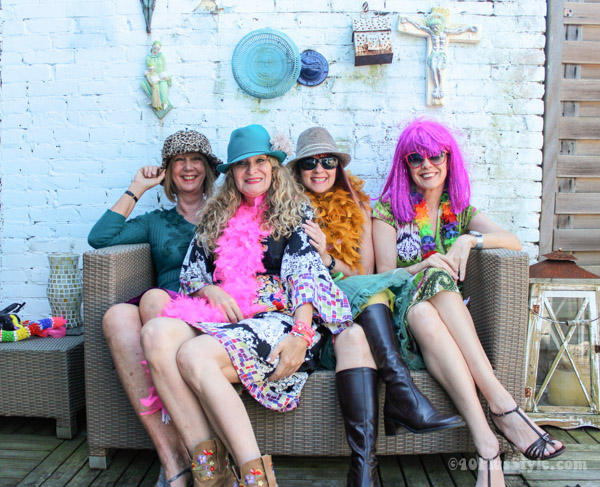 40+girls playing dress up   40plusstyle.com