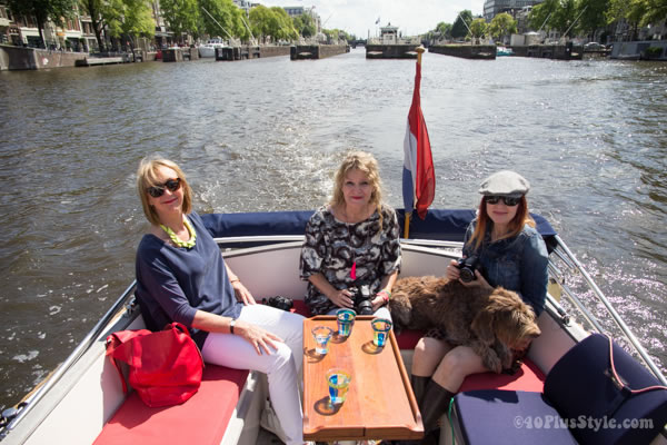 Discovering Amsterdam by boat and how to dress for a boat trip