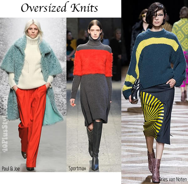 Best fall / winter 2014 trends - Oversize Knits   40plusstyle.com