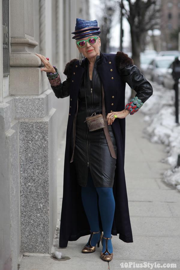 Debra Rapoport in ADVANCED STYLE. Photo by Ari Seth Cohen, New York  City   40plusstyle.com
