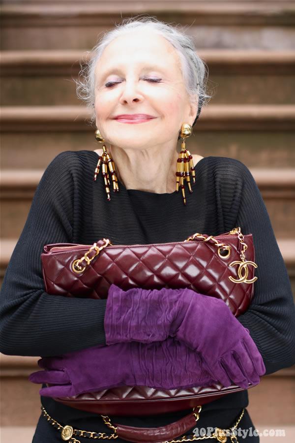 Joyce Carpati in ADVANCED STYLE. Photo by Ari Seth Cohen, New York City.   40plusstyle.com