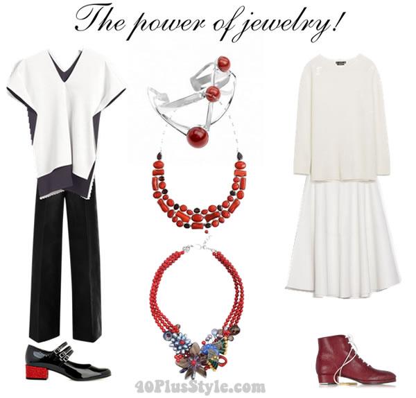 how to wear statement jewellery | 40plusstyle.com