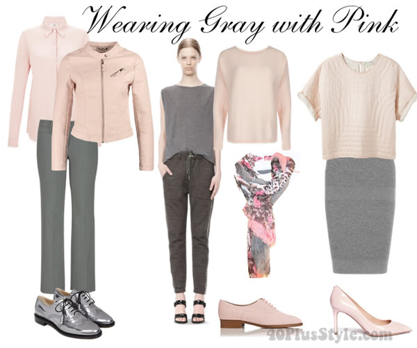 How to wear gray choose color combinations and ensembles for What color shirt goes with a purple skirt