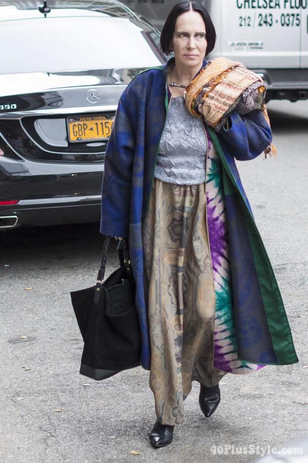 Mary McFadden in New York | 40plusstyle.com