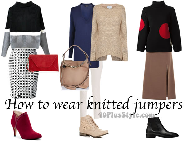Post image for How to wear the fall trends after 40: bulky knitted sweater