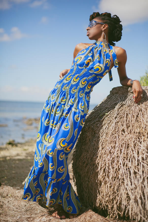 Latrenia Bryant in a beautiful maxi dress | 40plusstyle.com