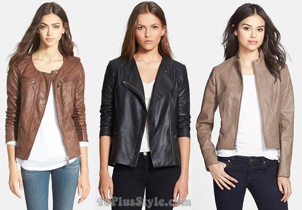 Leather coats for farmer fall days or to wear indoors | 40plusstyle.com