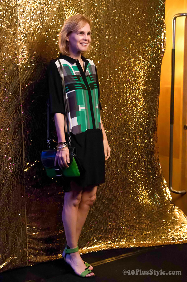 What I wore to the Gnossem F1 Fashion party | 40plusstyle.com