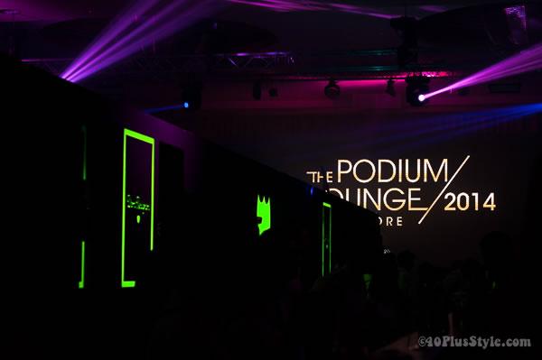 podium lounge Gnossem fashion party Singapore | 40plusstyle.com