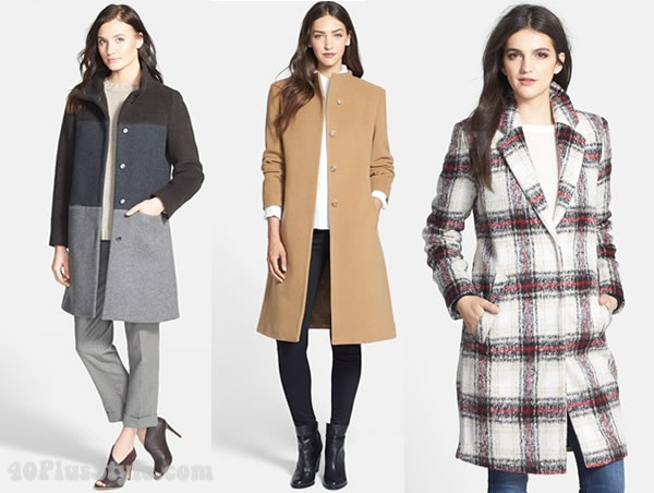 How to choose a coat - straight coats | 40plusstyle.com
