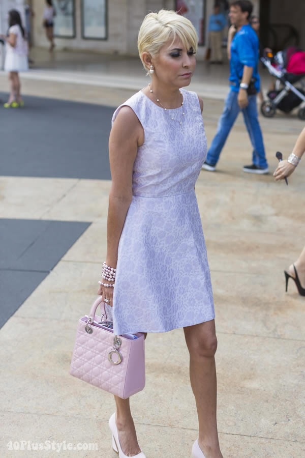 lila pastel dress | 40plusstyle.com