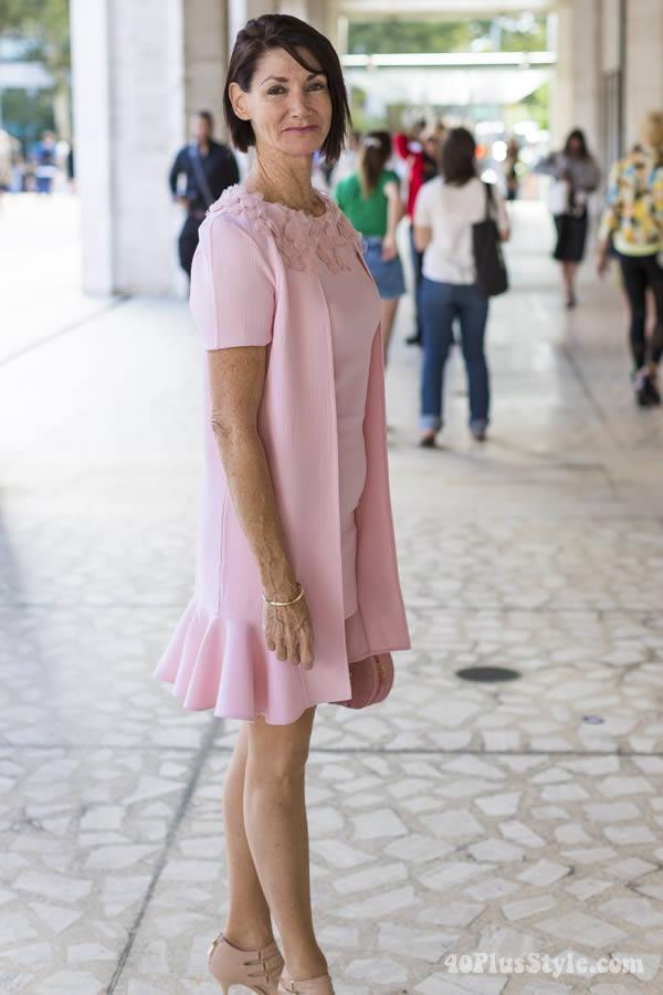 pink pastel dress | 40plusstyle.com
