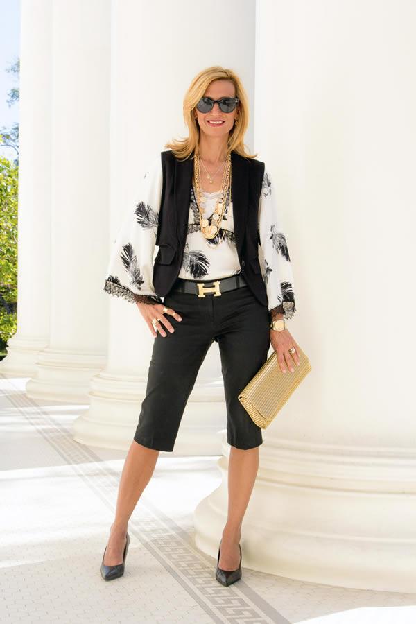 wearing a black vest | 40plusstyle.com