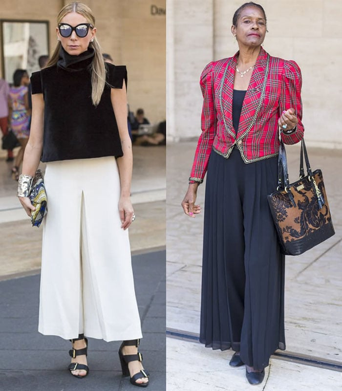 Streetstyle inspiration: Culottes. Will you embrace them this season?