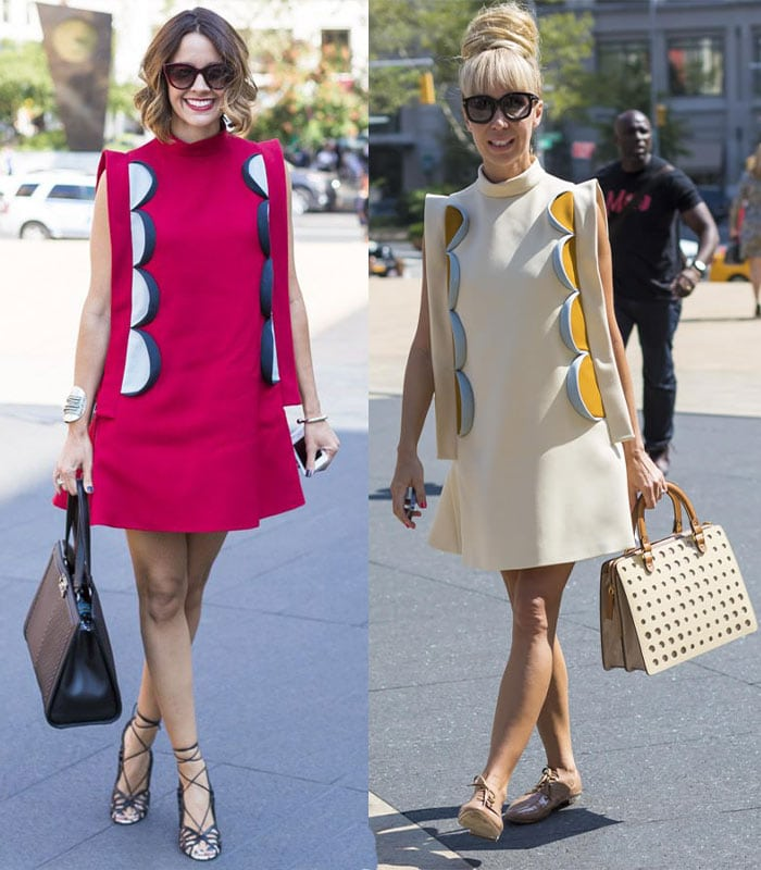 Having twice the fun with a fashion-forward dress!