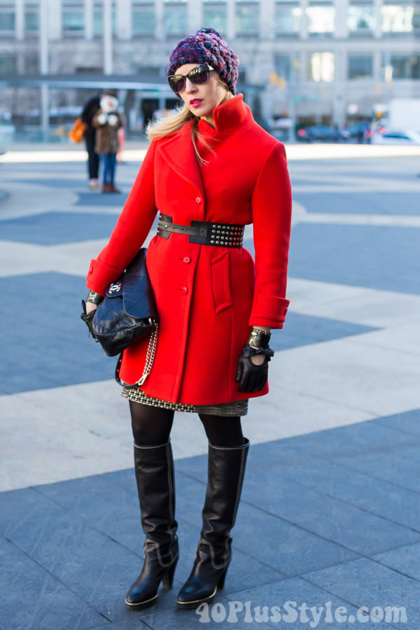 Having Fun With Fashion In Winter With A Colorful Winter Coat