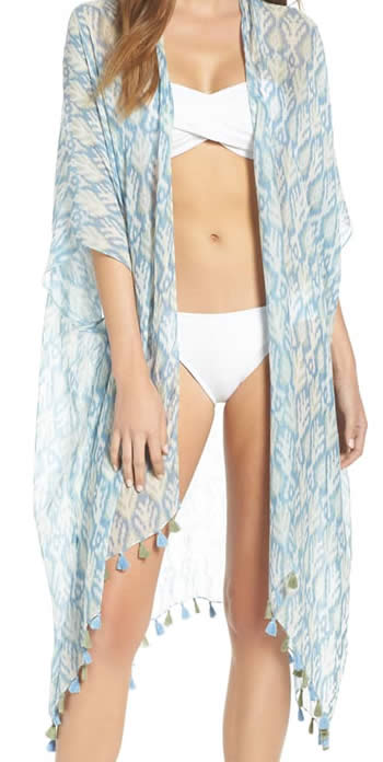 Open kimono beach cover up | 40plusstyle.com