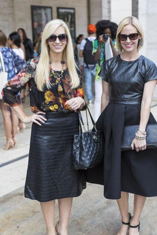 Having Twice The Fun At Fashion Week | 40plusstyle.com