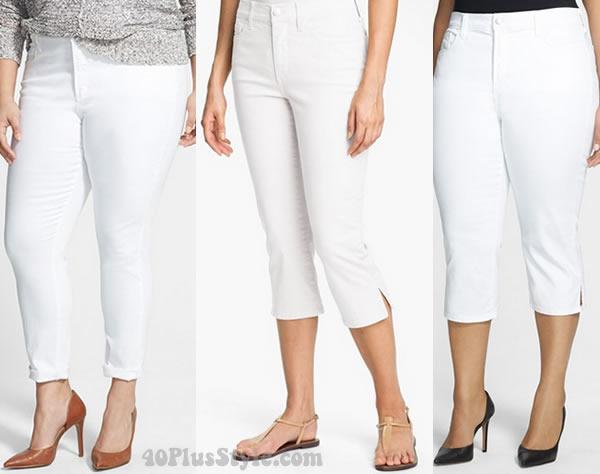 NYDJ capri white pants | 40plusstyle.com