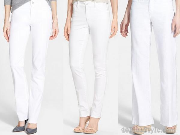 NYDJ white jeans | 40plusstyle.com