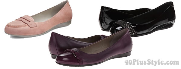 comfortable loafers and-ballerinas from Ecco | 40plusstyle.com