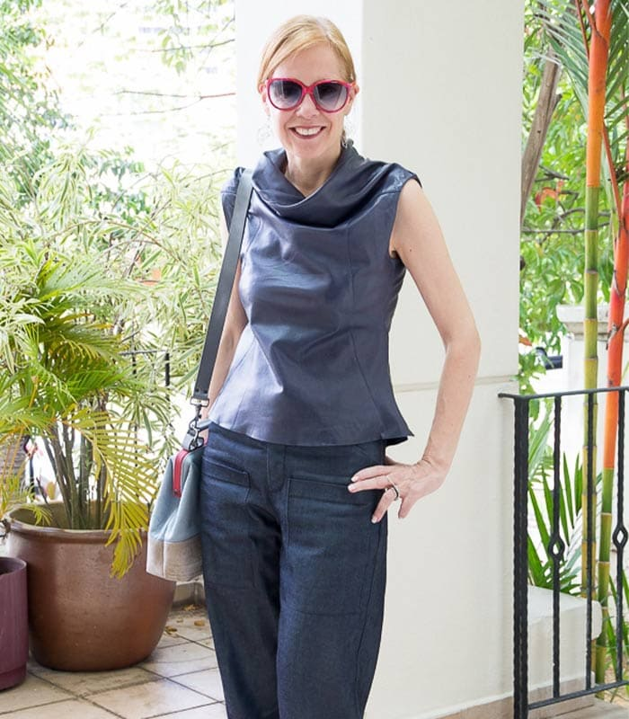 My version of culottes – wide cropped jeans! – here is how to wear them in a flattering way
